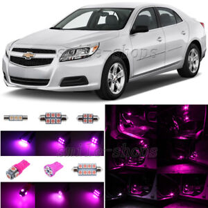7x Pink/Purple LED Interior Light Package For 2008-2013 Chevrolet Chevy Malibu