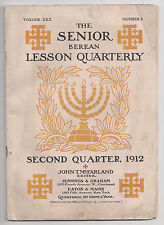 Vintage 1912 Collectible Book Berean Lesson Quarterly