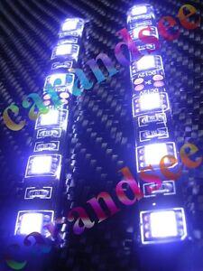 2 BANDES FLEXIBLE A 6 LED SMD5050 10CM 12 VOLTS BLANC TUNING EXTERIEUR