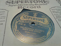 Chubby Parker 78 Supertone Electric 9187 His Parents Haven't Hillbilly Sleeve