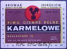Poland Brewery Jędrzejów Piwo Karmelowe Beer Label Bieretikett Cerveza je48.1