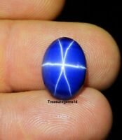 8.00 Ct Ring Size Natural 6 Rays Blue Star Sapphire Oval Cabochon Loose Gemstone