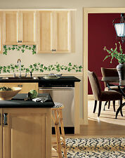 New IVY VINES WALL DECALS Kitchen Leaves Stickers Peel & Stick Vine & Leaf Decor