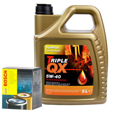 Bosch Oil Filter With Triple QX Fully Syntetic 5W40 Engine Oil 5L - Service Kit