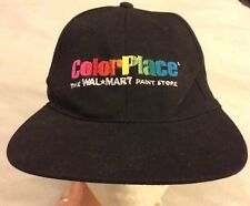 d18deb90 ColorPlace The Walmart Paint Store Cap Hat Black Strapback VGUC Color Place  Rare
