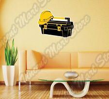 "Tool Box Construction Builder Hard Hat Wall Sticker Room Interior Decor 25""X20"""