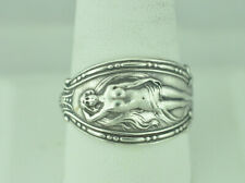 Beautiful 925 Sterling Silver Nude Venus Woman Spoon Ring
