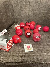 More details for red nose day vintage red noses - 1989, 1991, 2001 face, hands, and tattoo g1p