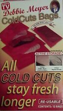 12 Debbie Meyer ColdCut Bags Reusable -Cold Cuts Stay Fresh Longer Free Shipping