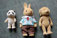 Pandabär, Hase, Hund - feste Figuren mit Stoffüberzug - siehe Bilder