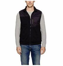 Kenneth Cole New York Men's Techy Fleece Vest, Black, X-Large