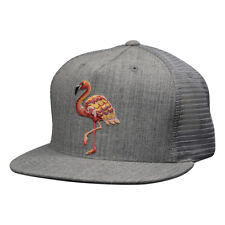 Pink Flamingo Trucker Hat by LET'S BE IRIE - Heather Gray Snapback