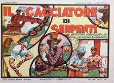 IL CACCIATORE DI SERPENTI Sup. L'Avventuroso (Nerbini, 1935) Ristampa Anastatica