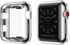Apple Watch Silver Silicone Case Complete Protection for Series 3,2,1, 42mm