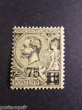 MONACO 1924, timbre 71, PRINCE ALBERT 1°, SURCHARGE, neuf**, VF MNH STAMP