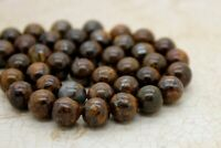 Bronzite Smooth Round Ball Sphere Natural Loose Gemstone Beads