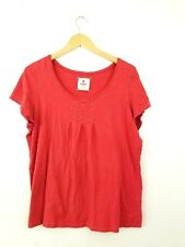 Avenue Women's Tee Shirt Size 14/16 Loose Fit Short Sleeve Top Scoop Neck Red