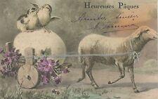 CARTE POSTALE / POSTCARD / HEUREUSES PAQUES / MOUTON / POUSSINS