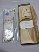 Vintage ladies white nylon gloves longer length. Brandon Size 6 - 6 1/2