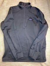 Patagonia Crosstrek Fleece 1/4 Zip - Mens Large Dark Gray