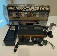 ATARI Video Computer System 2600 1980 Box 14 Games Controllers 4 Switch Console