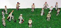 Cricket Game People A76 UNPAINTED N Gauge Scale Langley Model Kit Figures Metal