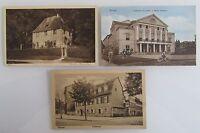 3x WEIMAR alte Ansichtskarten Postkarten ~1920/30 Goethe Schiller Haus Theater