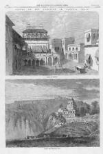 1866 Antique Print - CENTRAL INDIA Kirwee Palace Calpee Palace  (289)