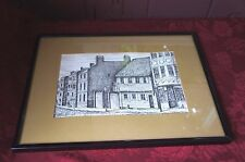 FRAMED PRINT: PAUL REVERE HOUSE-NORTH SQUARE BOSTON BY C.M.GOFF