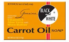 Black & White Carrot Oil Soap Vitamin E, Aloe Vera, Shea Butter Soap