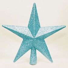 Blue Glitter Star Christmas Tree Topper 20cm by Christmas Direct