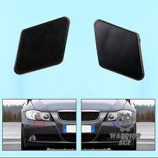 Pair Bumper Headlight Washer Nozzle Cover Primed For BMW E90 E91 320i 325i 330i