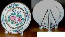 FRENCH HANDPAINTED PLACE CARD HOLDER SHAPED AS A PLATE
