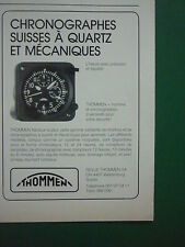 6/87 PUB REVUE THOMMEN WALDENBURG QUARTZ AIRCRAFT CLOCKS CHRONOGRAPHS FRENCH AD