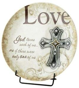 Decorative PLATE-God Loves Us--Gem Traditions Plate by Carson Home Accents