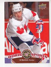 AL MacINNIS Team Canada Hockey 2010 UPPER DECK WORLD OF SPORTS SP CARD # 317