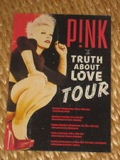 PINK - THE TRUTH ABOUT LOVE  AUS TOUR 2013 -  COUNTER TOUR POSTER