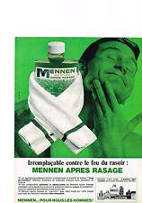PUBLICITE ADVERTISING  1965   MENNEN    lotion aprés rasage