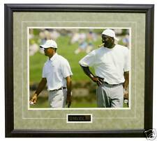 TIGER WOODS AND MICHAEL JORDAN  PHOTO FRAMED DELUXE