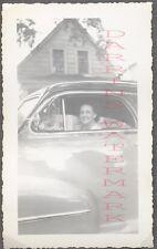 Unusual Vintage Photo Woman in 1947 Oldsmobile Olds Car Window 698889