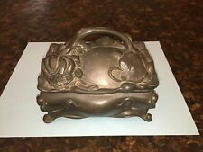 Antique Early 1900's BENEDICT JEWELRY BOX with Original Cloth Liner