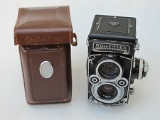 """Rolleiflex TLR 3.5F 75mm f:3.5 Xenotar lens and case, NICE """"LQQK"""""""
