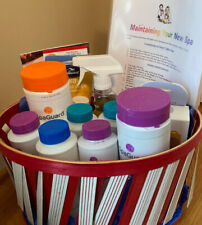 Gift basket with hot tub essential maintenance supplies from Cherry Valley Spas
