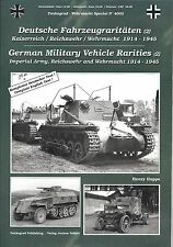 Tankograd 4002: German Military Vehicle Rarities (2) 1914-1945