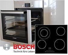BOSCH Herdset Autark Backofen Ausfahrbar Backwagen  + Glaskeramik Kochfeld 60cm