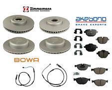 BMW F10 528i 11-13 Full Brake Friction Kit Rotors Pads Zimmermann Akebono Bowa