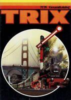 Trix Gesamtkatalog 1977 1978 Modelleisenbahn Katalog catalog model railway Bahn