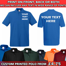 Custom Personalised Printed HQ Polo Shirts for Work Party - Men/Women Workwear