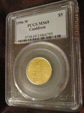 1996W U. S. Mint XXVI Olympiad Atlanta Cauldron Gold $5. PCGS MS69 graded cost
