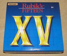 Rubik's Fifteen Puzzle Game / Brain Teaser - Matchbox 1990 - Complete W/ Manual
